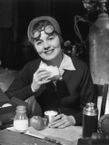 Female Worker on Lunch Break Photographic Print by George Marks