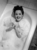 Woman in Bathtub W/ Bubbles Photographic Print by George Marks