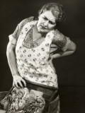 Harried Housewife Doing Laundry Photographic Print by George Marks