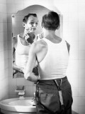 Man Shaving Photographic Print by George Marks