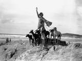 Greyhound Lady Photographic Print