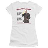 Juniors: Monk-Top 10 Phobias T-shirts