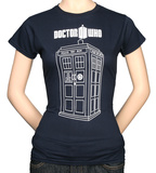 Juniors: Doctor Who - Tardis Vector Graphic T-シャツ
