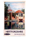 Hertfordshire, BR (ER), c.1948-1965 高品質プリント