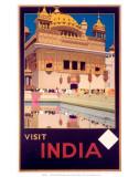 Indian State Railways: Visit India Poster