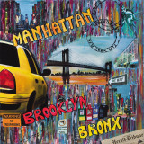 Manhattan Brooklyn Print by Sophie Wozniak