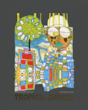 Tropical Chinese Pôsteres por Friedensreich Hundertwasser