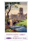 Fountains Abbey, Yorkshire, BR (NER), c.1956 高品質プリント