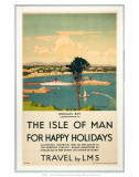Isle of Man for Happy Holidays, LMS, c.1923-1947 Posters by Norman Wilkinson