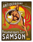 Pneumatiques Cuir Samson, c.1910 Poster