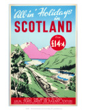 All-In Holidays in Scotland, Creative Tourist Agents Conference/BR, c.1950s Pósters