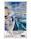 The Continent via Harwich, BR (ER), c.1958 Póster por  B. Myers
