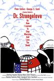 博士の異常な愛情 または私は如何にして心配するのを止めて水爆を愛するようになったか(1964年) アートポスター