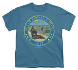 Youth: Parks & Rec-Distressed Pawnee Seal T-Shirt