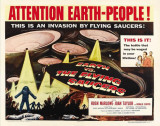 Earth vs. the Flying Saucers, 1956 Poster
