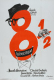 Filmposter 8½ in Franse stijl Posters