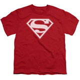 Youth: Superman - Red & White Shield T-Shirt