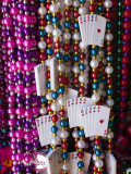Mardi Gras Beads, French Quarter, New Orleans, Louisiana, USA Photographic Print by Walter Bibikow