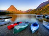 Two Medicine Lake and Sinopah Mountain, Glacier National Park, Montana, USA Fotografisk tryk af Jamie & Judy Wild