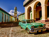 Old Worn 1958 Classic Chevy, Trinidad, Cuba Photographic Print by Bill Bachmann