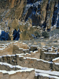 New Snow on Broken Walls of Tyuoni Ruin, Bandelier National Monument, New Mexico, USA Photographic Print by Scott T. Smith