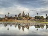 Panoramic View of Temple Ruins, Angkor Wat, Cambodia Fotografisk trykk av  Jones-Shimlock
