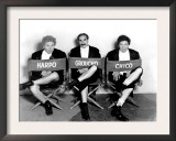 Marx Brothers - Harpo Marx, Groucho Marx, Chico Marx on the Set of Night at the Opera, 1935 Arte