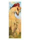 Verano Lámina giclée prémium por Alphonse Mucha