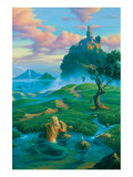 The Prince and the Mermaid Premium Giclée-tryk af Jim Warren