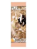 Flirt Impressão giclée premium por Alphonse Mucha