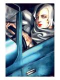 Selbstporträt Giclée-Premiumdruck von Tamara de Lempicka