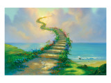 Escalier vers le paradis Reproduction giclée Premium par Jim Warren