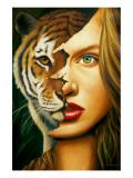 Tiger Within Premium Giclée-tryk af Jim Warren