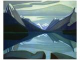 Maligne Lake, Jasper Park Premium Giclée-tryk af Lawren S. Harris