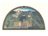 Pallazzo Pitti e Belvedere Premium Giclee Print by Giusto Utens