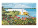 Flower Garden and Bungalow, Bermuda, c.1899 Premium Giclée-tryk af Winslow Homer