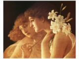 Two Angels Premium Giclee Print by Charles Francois Sellier