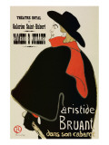 Aristide Bruant Premium Giclée-tryk af Henri de Toulouse-Lautrec