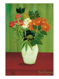 Green Flowers Premium Giclee Print by Henri Rousseau