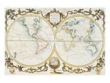 Map of the World, c.1770 Exklusivt gicléetryck