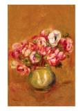 Large Anemones Premium Giclée-tryk af Pierre-Auguste Renoir