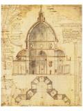 Florence Dome Exklusivt gicléetryck av Lodovic Cardi