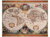 Antique Map, Geographica, c.1630 Premium Giclee Print by Henricus Hondius
