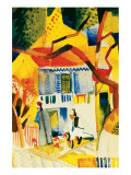 Inner Court of the Country House in St-Germain, 1914 Premium Giclee Print by Auguste Macke