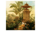 Still Life with Tropical Palms Premium Giclée-tryk af Jean Capeinick