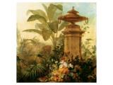 Still Life with Tropical Palms Lámina giclée prémium por Jean Capeinick