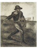 Sower (after Millet) Premium Giclee-trykk av Vincent van Gogh
