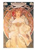 F. Champenois, France, 1898 Premium gicléedruk van Alphonse Mucha