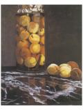 Jar of Peaches Lámina giclée prémium por Claude Monet