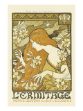 L'Ermitage, Illustrated Magazine Premium Giclee Print by Paul Berthon